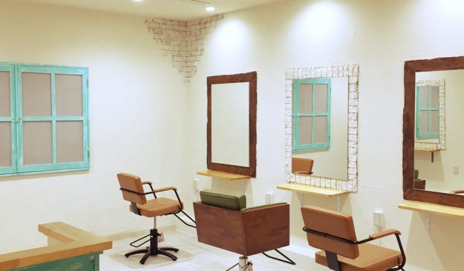 美容室の新装工事