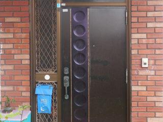 玄関ドア 取替前