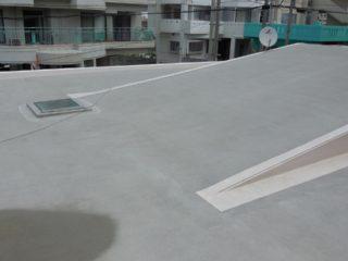 屋上防水工事004 洗浄後