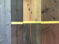 木部塗装、色見本の作成