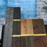 木塗装のサンプル