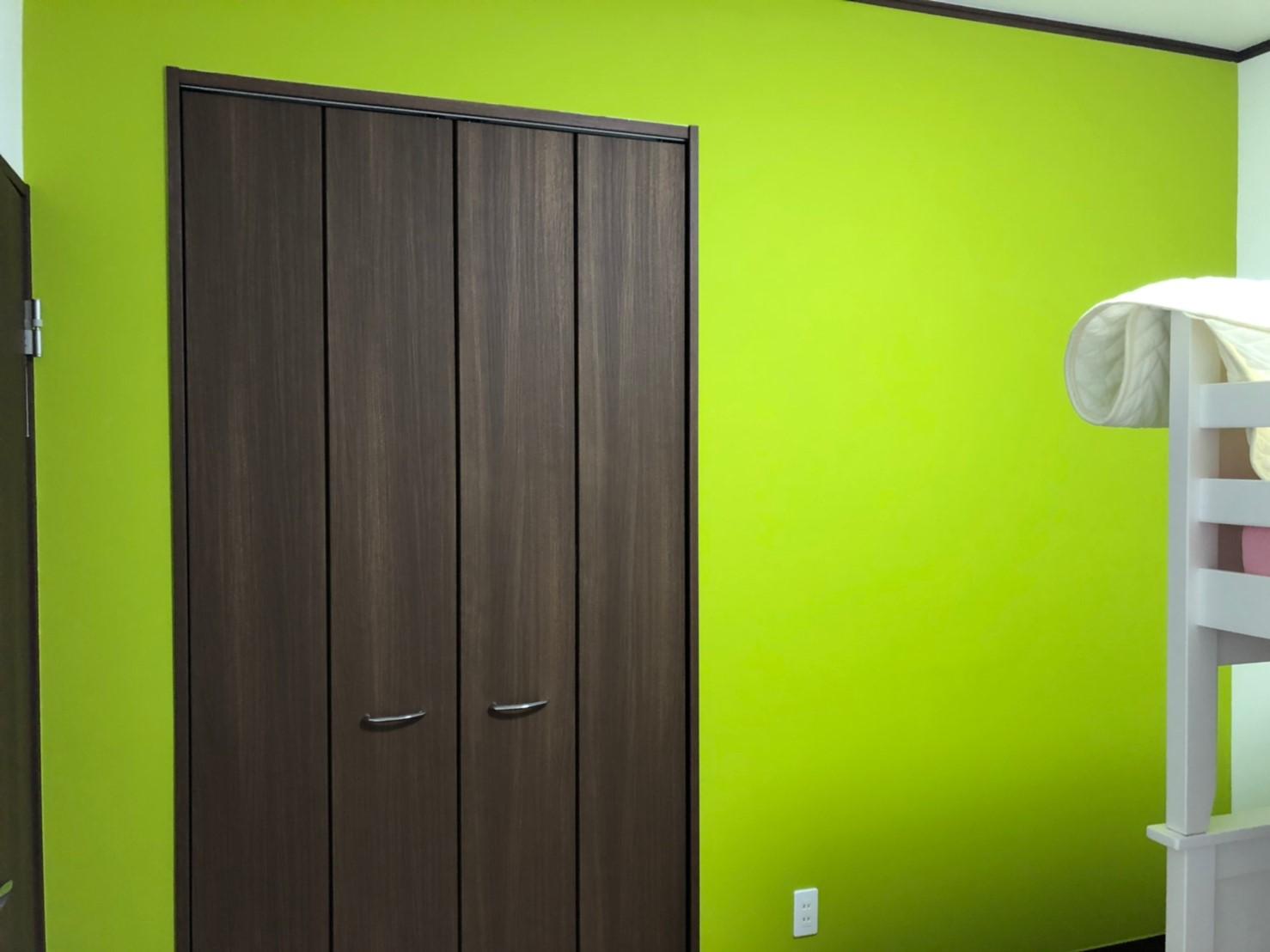 洋室Aの塗装後